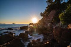 Sunset, sea and rocks