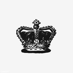 Vintage heraldic royal crown illustration