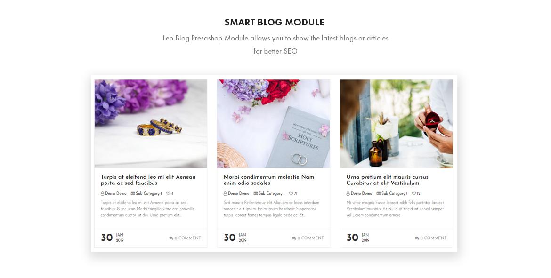 smart blog module - Leo Smitten Jewelry Store Prestashop theme