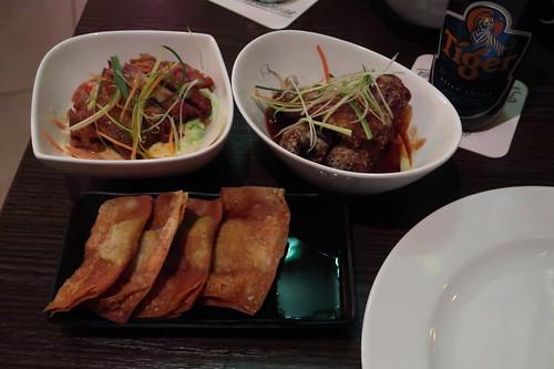 Die mir servierten asiatischen Tapas
