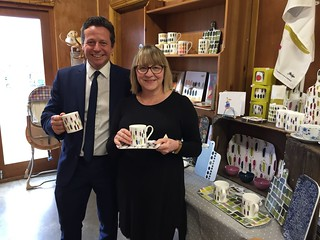 Nigel Huddleston MP at Ellenden Farm with local ceramics designer Sara Page | by Nigel Huddleston MP for Mid Worcestershire