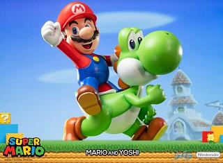最佳拍檔超可愛登場~ First 4 Figures《超級瑪利歐》瑪利歐與耀西 Mario and Yoshi 全身場景雕像作品