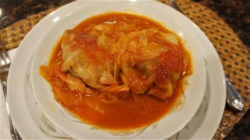 At Home: Stuffed Cabbage
