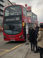 One of the longest routes to go beyond Croydon. Utilising older DB300 diesels. | Arriva South London Wright Gemini DB300 ok the 60 to Old Coulsdon.