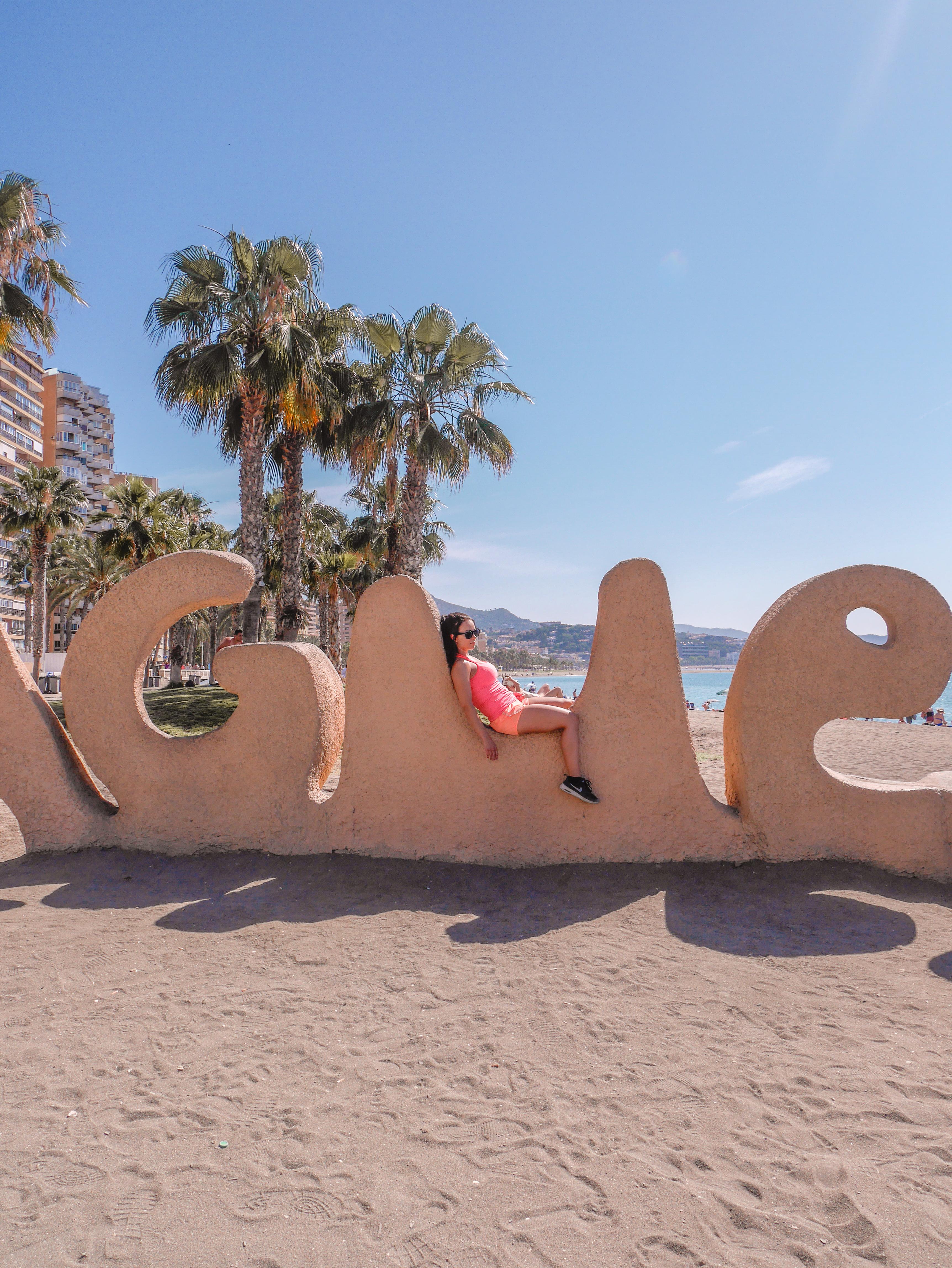 Malagueta beach monument