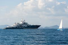 Superyacht Andromeda near Phuket island Thailand
