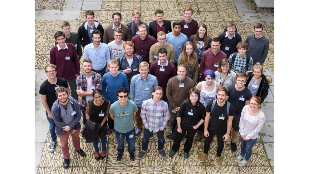 Group photo of Condensed Matter Physics CDT students