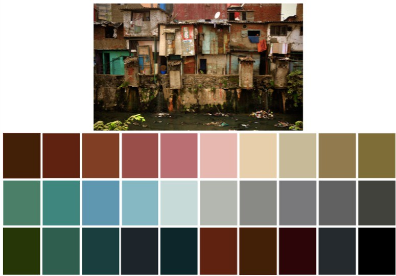 Gully Boy Locations: Colour Palette