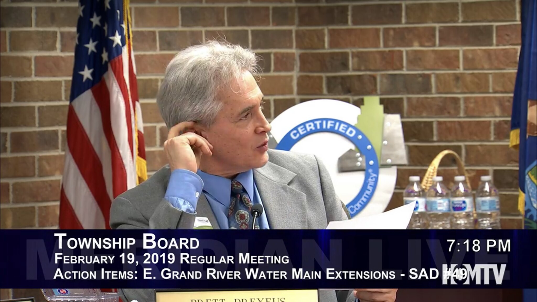 Township Board Votes to Move Forward with Grand River Water Main Expansion