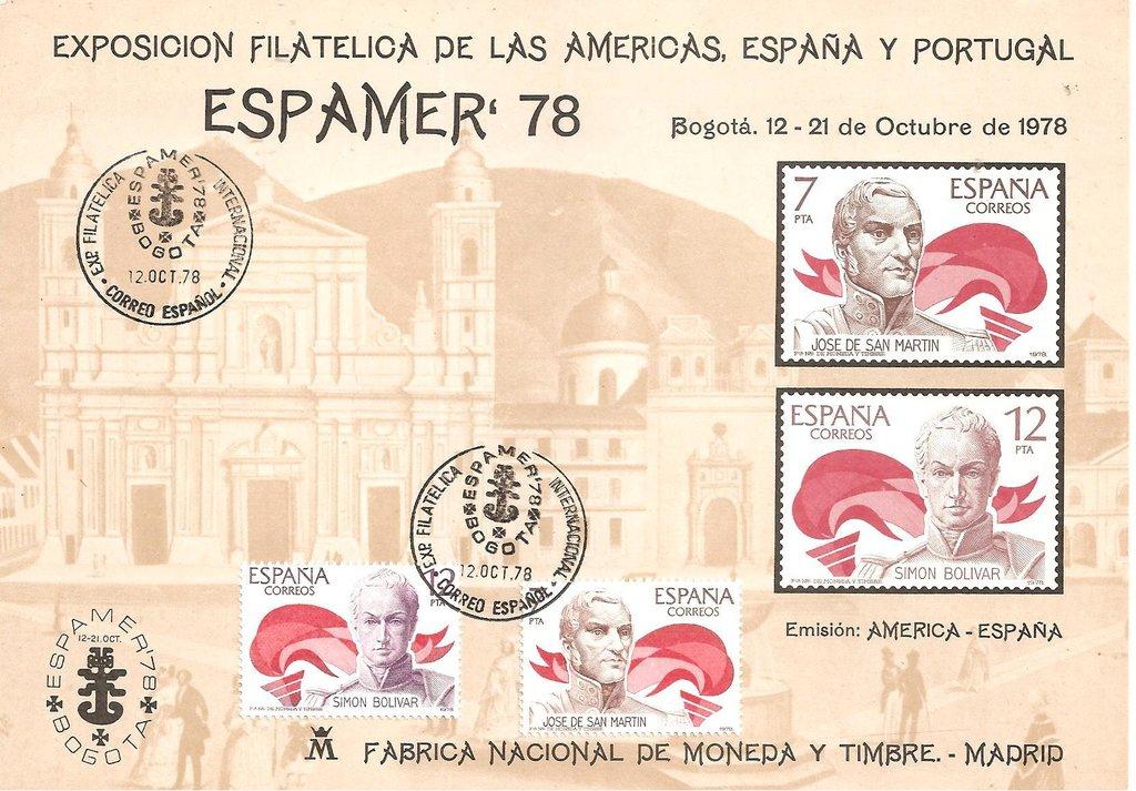 Spain - Scott #2116-2117 (1978) exhibition cover