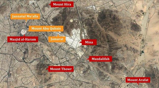1649 Location of 13 Most Sacred and Historic Places in Makkah 14