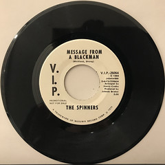 THE SPINNERS:MESSAGE FROM A BLACKMAN(RECORD SIDE-A)
