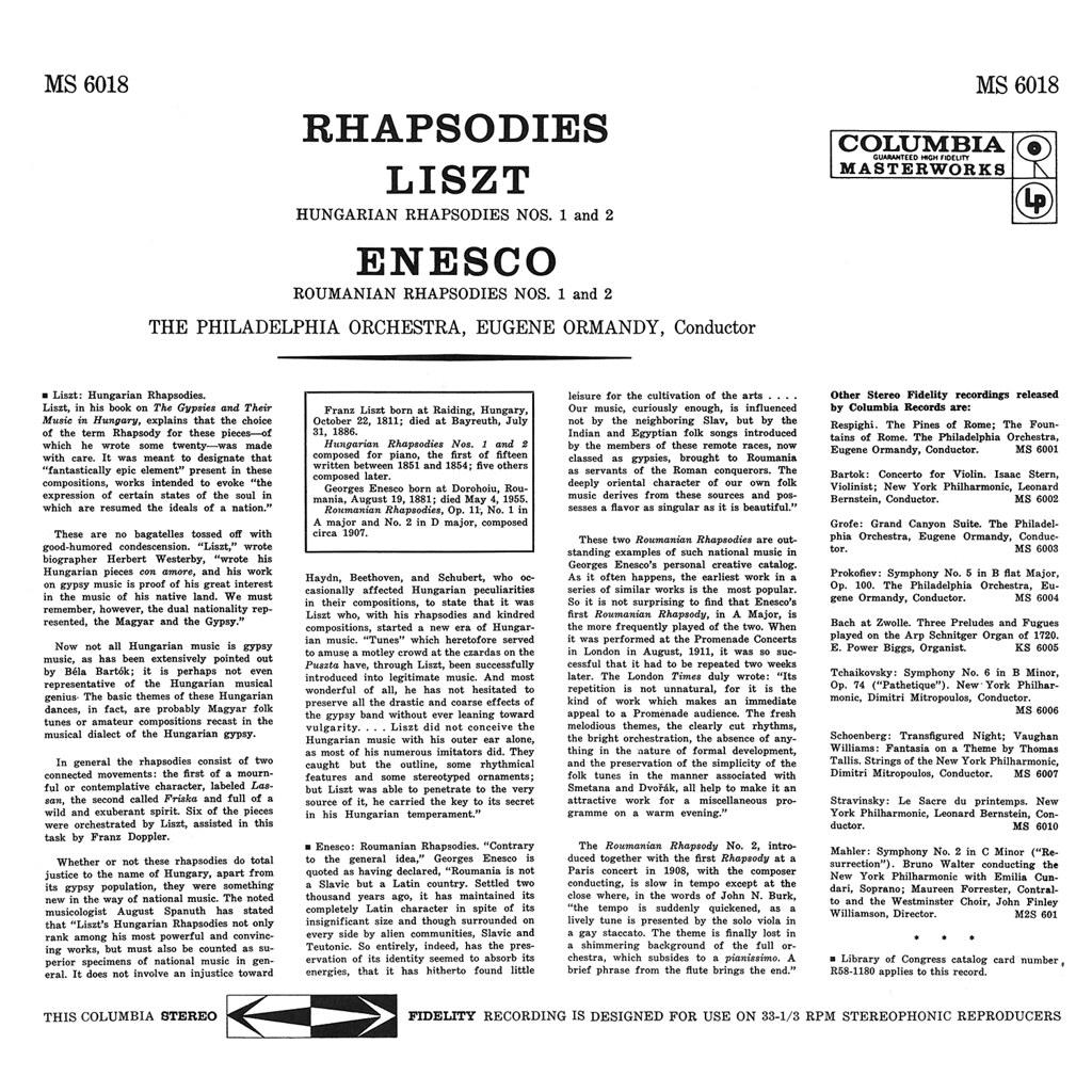 George Enescu, Franz Liszt - Rhapsodies