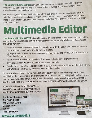 Multimedia Editor Needed #jobfairy