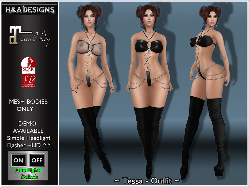 [H&A Designs]-Tessa Outfit Black