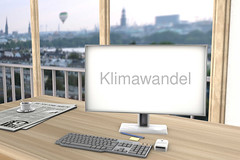 Klimawandel-auf-Bildschirm