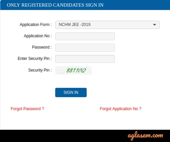 NCHMCT JEE 2020 Admit Card