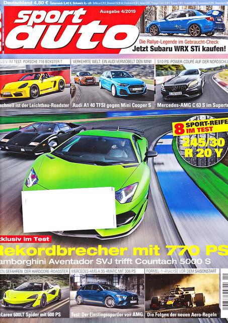 sport auto - 2019-04 - cover