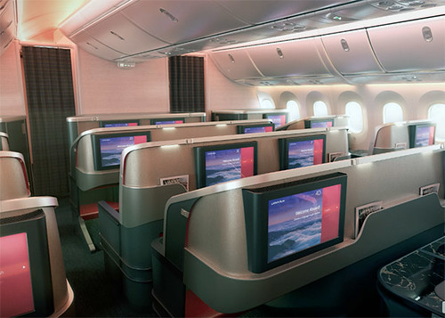 LATAM B787-9 nueva Premium Business back (video LATAM)