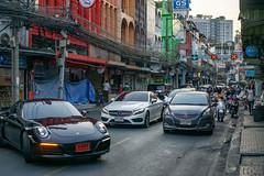 Street Photo of a Traffic Jam in Bangkok, Thailand