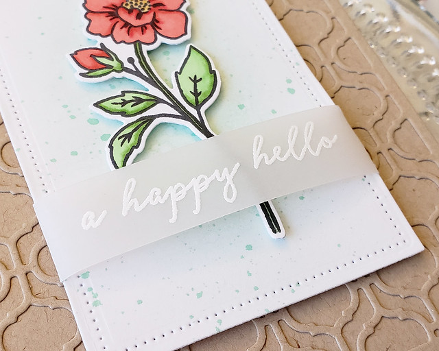 A Happy Hello Card3_Tall Blooms