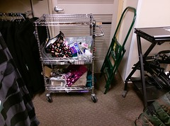 Cart cluttered with Sears liquidation stuff