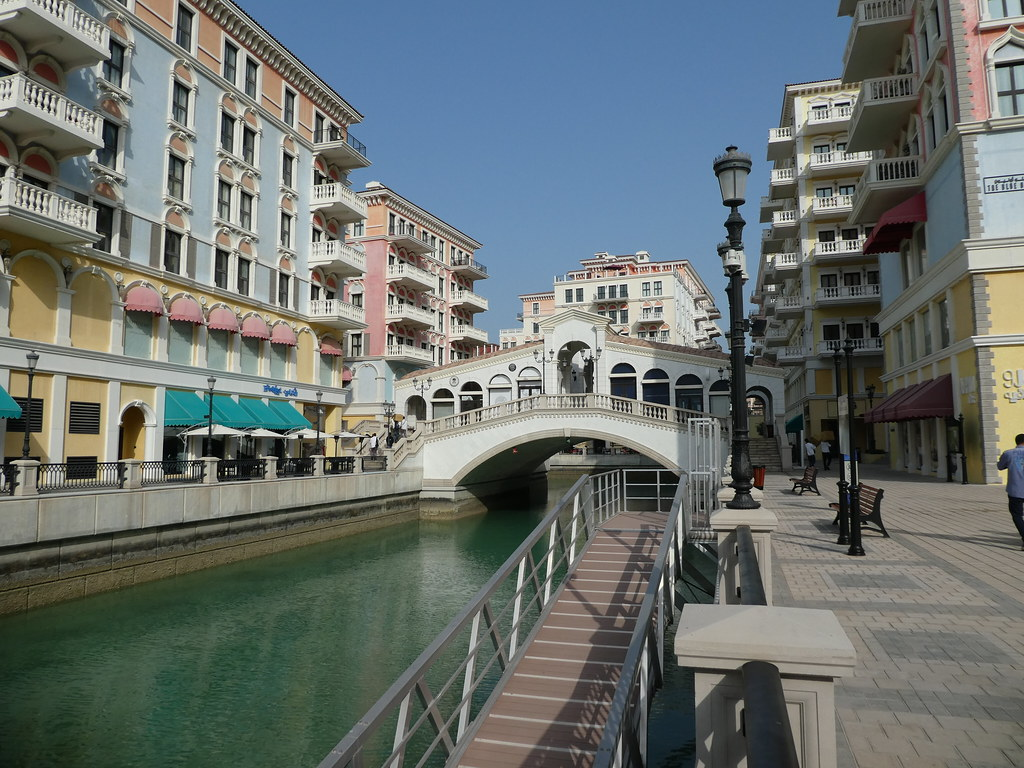 The Italian district of the Qanat Quartier, The Pearl, Doha