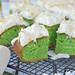 Groene pandan plaatcake uit Indonesië