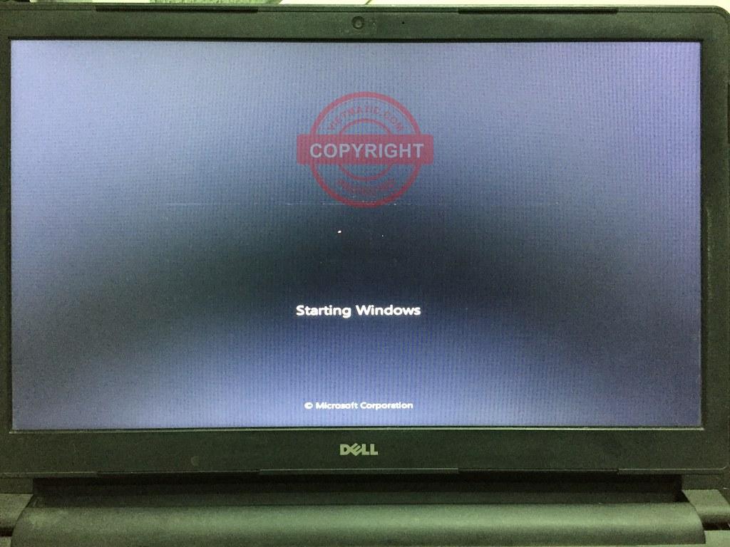 Laptop đã có thể khởi động được vào hệ điều hành Windows
