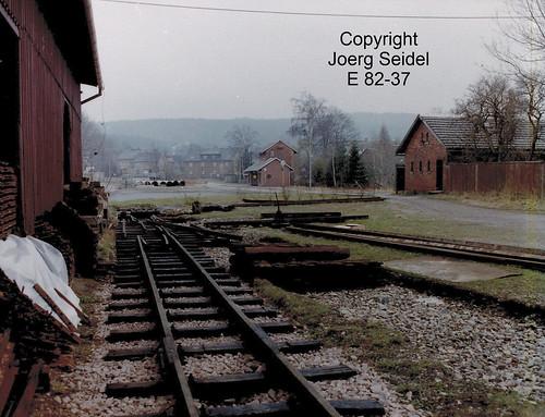 DE-08237 Rothenkirchen Bahnhof Bahnanlagen  im März  1991