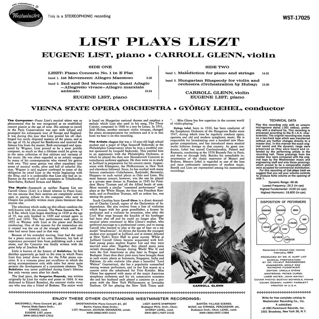 Franz Liszt - List Plays Liszt