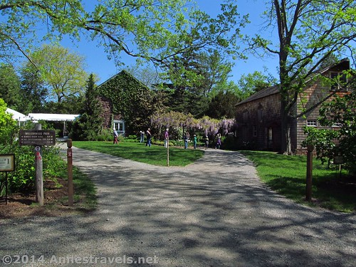 The entrance to the Willowwood Arboretum, Morris County, New Jersey