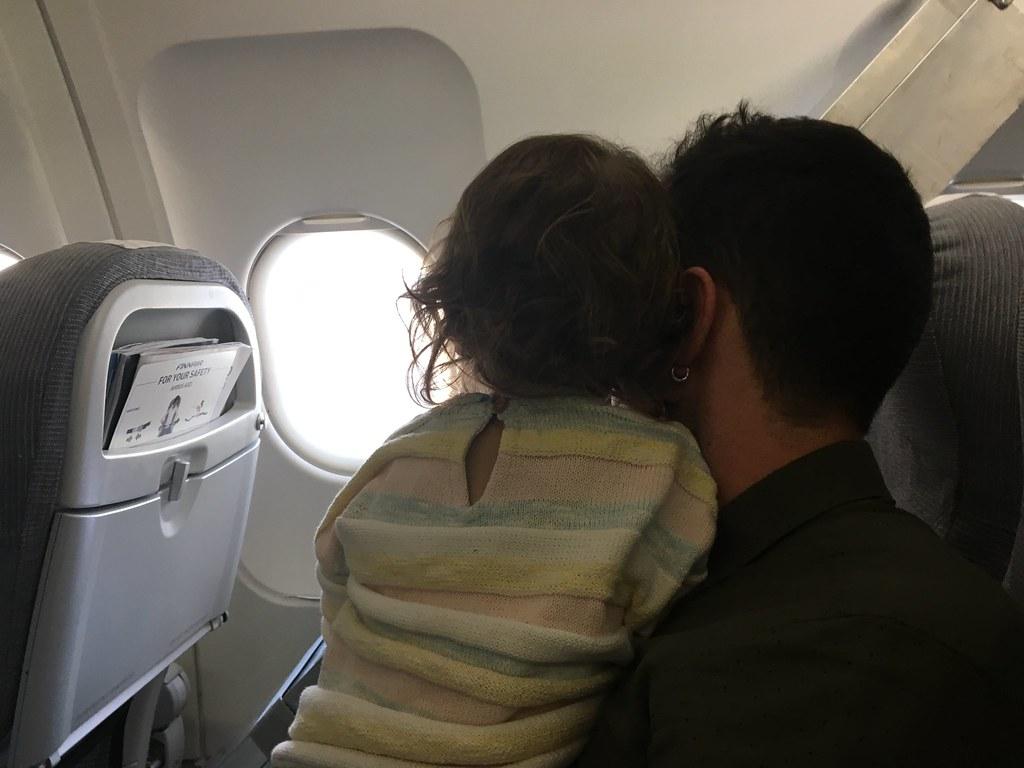 Confidencias con papá en el avión