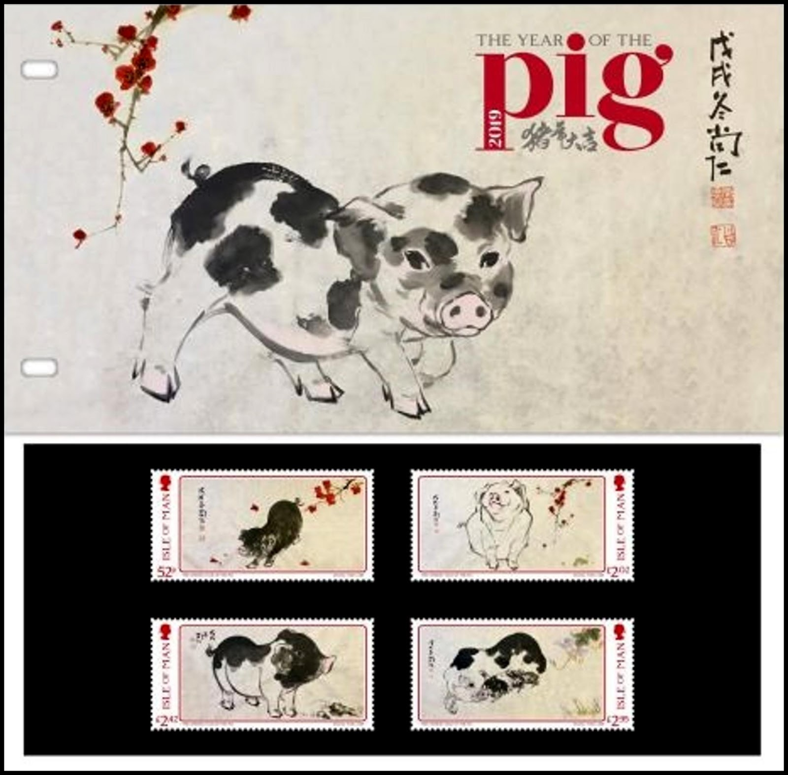 Isle of Man - Year of the Pig (January 22, 2019) presentation pack