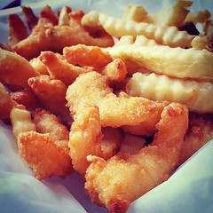 Basket of shrimps! :fried_shrimp::fries::fried_shrimp: