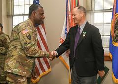 Barton Bodt receives a Civilian Service Award