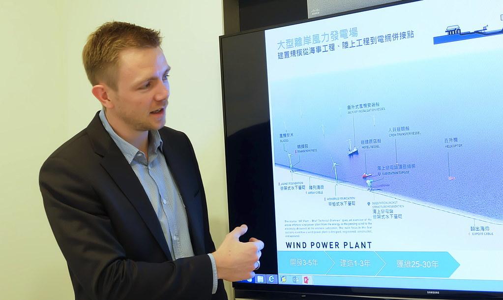 沃旭能源(Ørsted)的亞太區專案開發總監歐傑(Jesper Kühn Olesen)