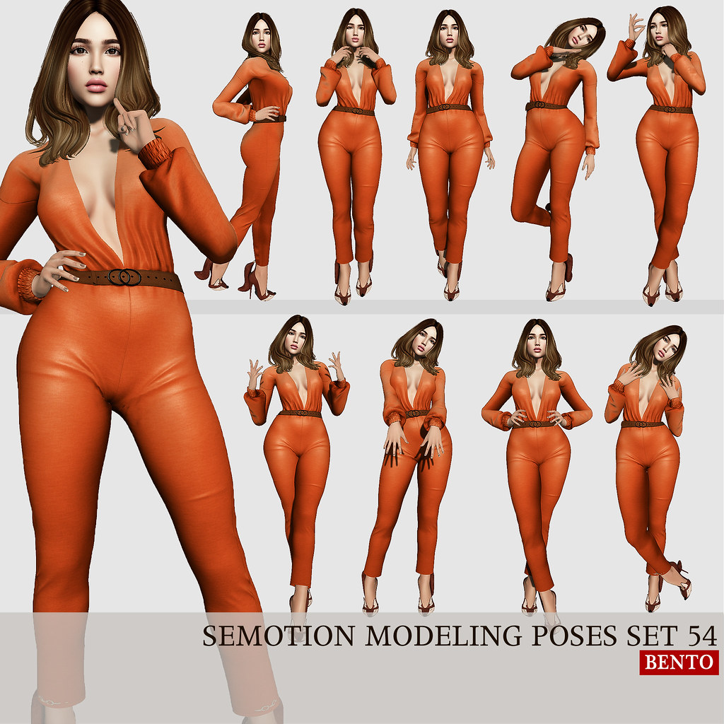 SEmotion Female Bento Modeling poses set 54