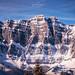 Die Schönheit der Berge ... Winterlandschaft beim Blick aus dem Skigebiet Flumserberg, Schweiz.