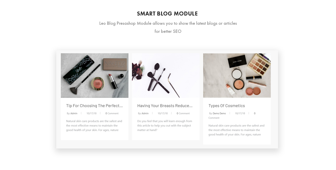 smart blog module - Leo Sooyoung - Cosmetics and Beauty Prestashop Theme