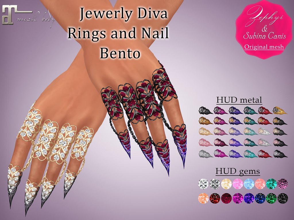 Zephyr – Jewerly Diva – Rings and Nail