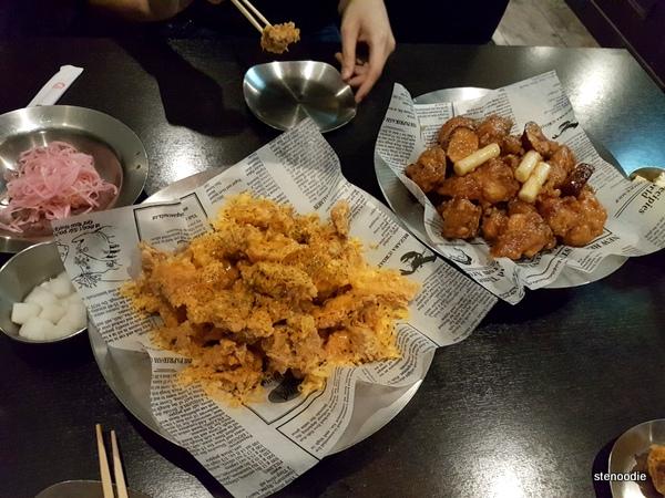 Gold Cheese Chicken, Honey & Garlic Fried Chicken