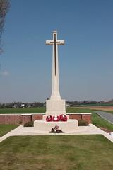 Cross of Sacrifice Honourable Artillery Company Cemetery Écoust-Saint-Mein France