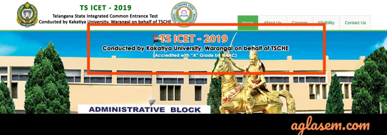 Registration for TS ICET 2019 Open at   icet.tsche.ac.in