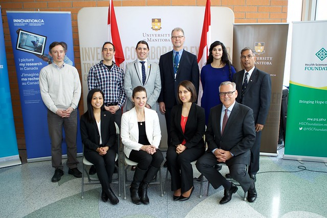 John R. Evans Leaders Fund announcement at the University of Manitoba