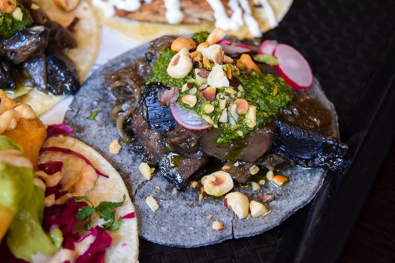 Mushroom and Hazelnut Taco at Taco Bill Pop Up at Alberrys, Canterbury