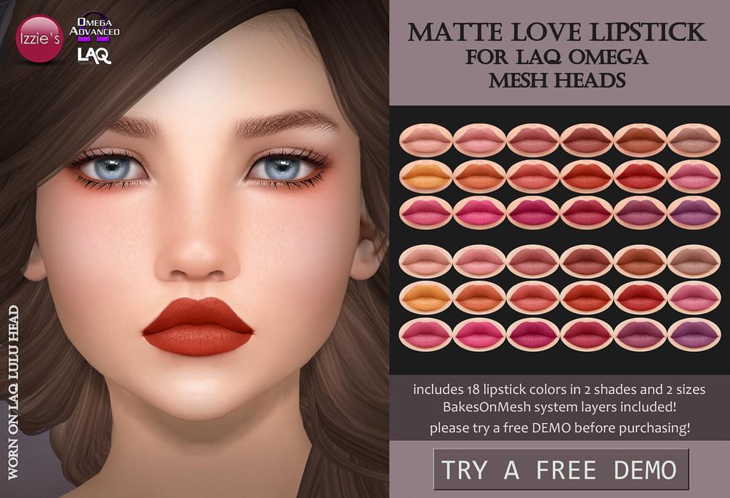 LAQ Omega Matte Love Lipstick (TLC)