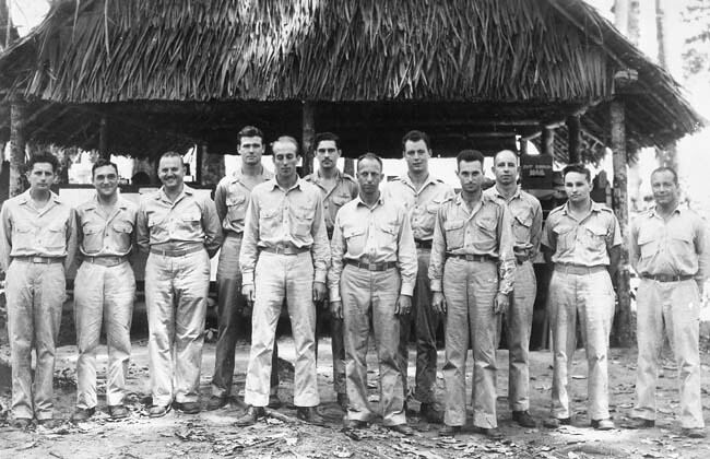 Clayton Dietrich with 3BG HQ and Squadron COs in Dobodura