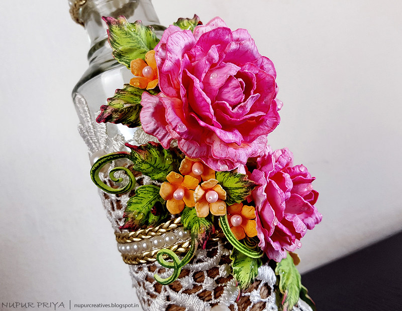 Altered Bottle with Rose_3
