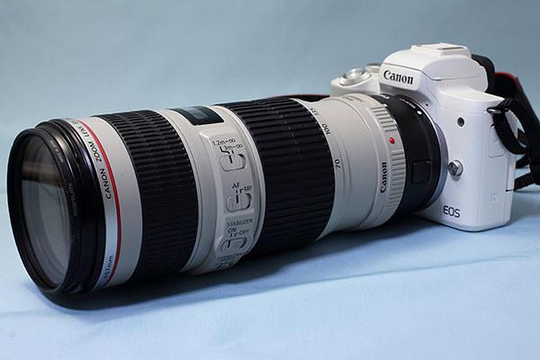 EOS Kiss M + EF 70-200mm F4L IS USM